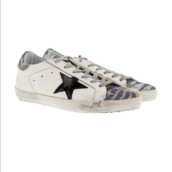 0ef32254734f1 Golden Goose Shoes | Deluxe Brand Superstar Zebra Glitter | Poshmark